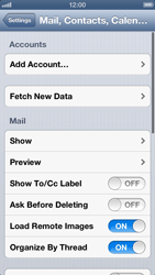 Apple iPhone 5 - E-mail - Manual configuration IMAP without SMTP verification - Step 5