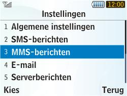Samsung S3350 Chat 335 - MMS - Handmatig instellen - Stap 14