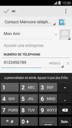 Bouygues Telecom Ultym 5 II - Contact, Appels, SMS/MMS - Ajouter un contact - Étape 6