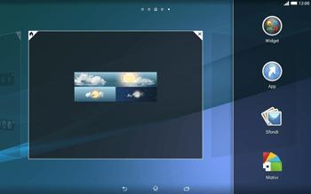 Sony Xperia Tablet Z2 LTE - Operazioni iniziali - Installazione di widget e applicazioni nella schermata iniziale - Fase 8