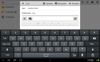 Samsung P5100 Galaxy Tab 2 10-1 - E-mail - Hoe te versturen - Stap 9