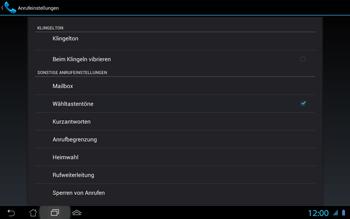 Asus Padfone 2 - Anrufe - Rufumleitungen setzen und löschen - Schritt 7