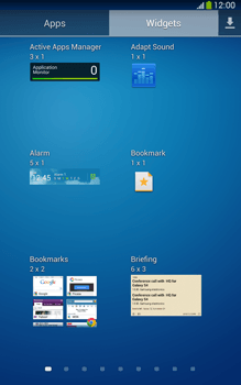 Samsung Galaxy Tab 3 8-0 LTE - Getting started - Installing widgets and applications on your start screen - Step 7