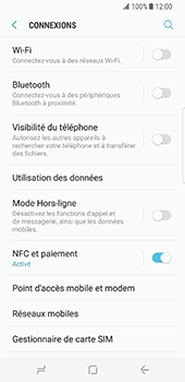Samsung Galaxy S8 - Internet et connexion - Partager votre connexion en Wi-Fi - Étape 5