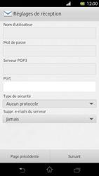 Sony Xperia T - E-mail - Configuration manuelle - Étape 10