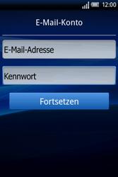 Sony Ericsson Xperia X8 - E-Mail - Konto einrichten - Schritt 4