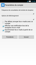 Alcatel One Touch Idol S - E-mail - Configuration manuelle - Étape 18
