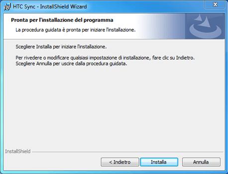 HTC Desire X - Software - Installazione del software di sincronizzazione PC - Fase 10