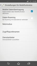 Sony Xperia Z3 Compact - Internet und Datenroaming - Prüfen, ob Datenkonnektivität aktiviert ist - Schritt 8