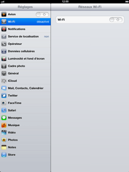 Apple iPad 4th generation - Wifi - configuration manuelle - Étape 3