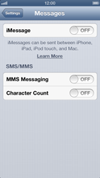 Apple iPhone 5 - MMS - Manual configuration - Step 12
