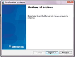 BlackBerry Z30 - software - pc suite installeren - stap 3