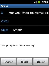 Samsung S5360 Galaxy Y - E-mail - Envoi d