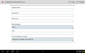 Samsung N8000 Galaxy Note 10-1 - E-mail - e-mail instellen: POP3 - Stap 8