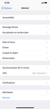 Apple iPhone XR - Aller plus loin - Restaurer les paramètres d'usines - Étape 4