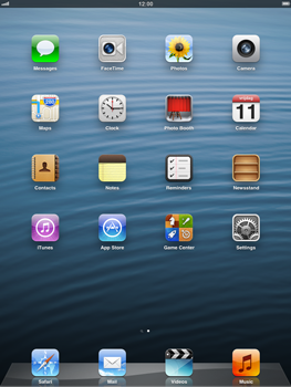 Apple iPad Retina - Getting started - Personalising your Start screen - Step 1