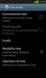 Samsung Galaxy S III Mini - Rete - Selezione manuale della rete - Fase 6