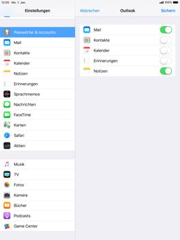 Apple iPad Air - iOS 12 - E-Mail - Konto einrichten (outlook) - Schritt 9