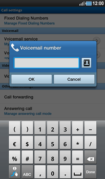 Samsung P1000 Galaxy Tab - Voicemail - Manual configuration - Step 6