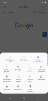 Samsung Galaxy Note 10 - Internet et connexion - Naviguer sur internet - Étape 20