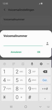 Samsung Galaxy S10e - voicemail - handmatig instellen - stap 12