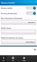 BlackBerry Z10 - Aller plus loin - Désactiver les données à l'étranger - Étape 8