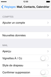 Apple iPhone 4S iOS 7 - E-mail - configuration manuelle - Étape 8