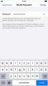 Apple iPhone 8 Plus - iOS 14 - WiFi - So aktivieren Sie einen WLAN-Hotspot - Schritt 5