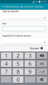 Samsung Galaxy Note 4 - E-mail - configuration manuelle - Étape 10