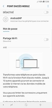 Samsung Galaxy Note 9 - Internet et connexion - Partager votre connexion en Wi-Fi - Étape 8