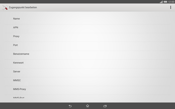 Sony Xperia Tablet Z2 LTE - Internet - Manuelle Konfiguration - Schritt 10