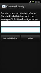 Sony Ericsson Xperia Ray mit OS 4 ICS - E-Mail - Konto einrichten - 2 / 2