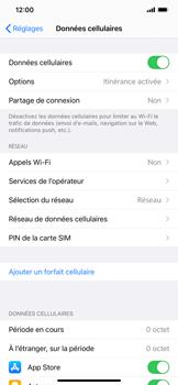 Apple iPhone XR - iOS 14 - Internet et roaming de données - Désactivation du roaming de données - Étape 4