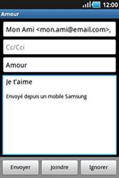Samsung S5830 Galaxy Ace - E-mail - envoyer un e-mail - Étape 7