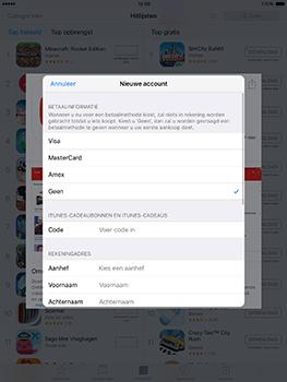 Apple ipad-pro-9-7-inch-met-ios10-model-a1674 - Applicaties - Account aanmaken - Stap 17