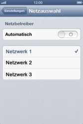 Apple iPhone 4 - Netzwerk - Manuelle Netzwerkwahl - Schritt 8