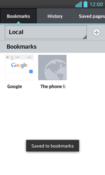 LG E460 Optimus L5 II - Internet - Internet browsing - Step 12