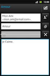 Sony ST27i Xperia Go - E-mail - envoyer un e-mail - Étape 11