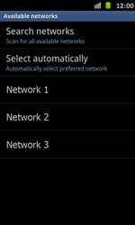 Samsung Galaxy S Advance - Network - Manual network selection - Step 9