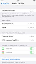 Apple iPhone 6 Plus iOS 8 - Internet et roaming de données - Comment vérifier que la connexion des données est activée - Étape 4