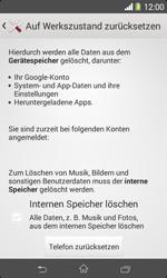 Sony Xperia E1 - Fehlerbehebung - Handy zurücksetzen - Schritt 8
