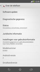 Sony D2303 Xperia M2 - Software updaten - Update installeren - Stap 5