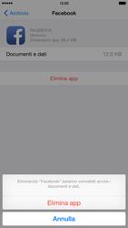 Apple iPhone 6 Plus - iOS 8 - Applicazioni - Come disinstallare un