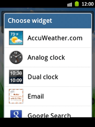 Samsung Galaxy Pocket - Getting started - Installing widgets and applications on your start screen - Step 4