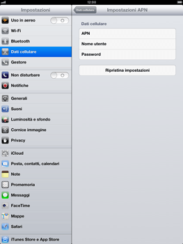 Apple iPad mini - Internet e roaming dati - Configurazione manuale - Fase 6