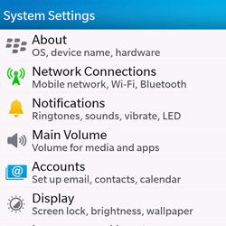 BlackBerry Q10 - WiFi - WiFi configuration - Step 4