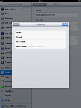 Apple iPad Retina - E-mail - Configurazione manuale - Fase 9