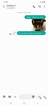 Samsung Galaxy S20 Ultra - Contact, Appels, SMS/MMS - Envoyer un MMS - Étape 22