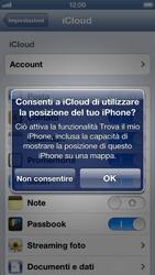 Apple iPhone 5 - Applicazioni - configurazione del servizio Apple iCloud - Fase 7