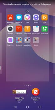 Huawei Y7 (2018) - Operazioni iniziali - Installazione di widget e applicazioni nella schermata iniziale - Fase 8